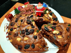 Christmas plum cake recipe without eggs and rum (1)
