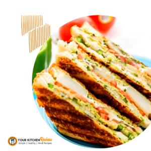 चीली चीज टोस्ट सैंडविच - Chilli Cheese Toast Sandwich